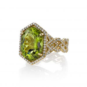 Peridot Chevron Ring